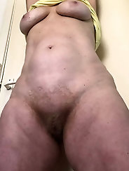 Explosive aged lasses with unshaved cunt