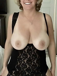 Prurient mommies in sexy dress