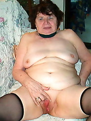 Hairy granny whore Rose is a meaty fuckdoll
