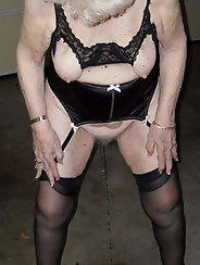 Very old granny whore is a meaty fuckdoll