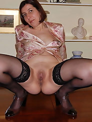 Sexy Grandma Legs, Spread and Ready to be Fuck 9
