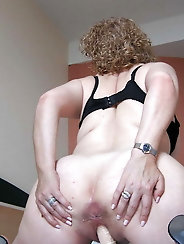 Granny masturbating in hotel-room