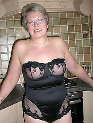 Granny has just bought new lingerie and wants to show u