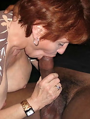 Classy-looking experienced GILF is having sex with her boyfriend