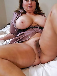 Horny grandmother with leaking pussy