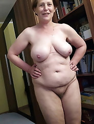Hottest grandma having unshaved twat